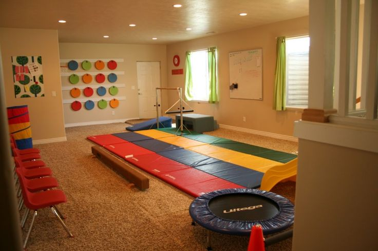 unfinished basement playroom - Google Search