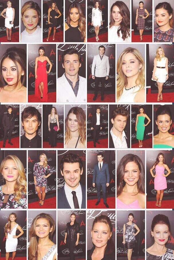 Cast PLL #PLLRedCarpet PLL100th Episode Party  pretty little Liars Season 5