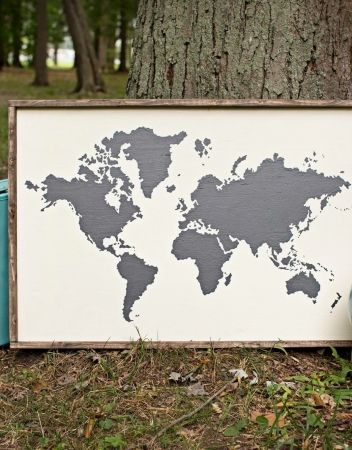 World map silhouette oversized framed sign diy home decor with ar world map silhouette oversized framed sign gumiabroncs Gallery