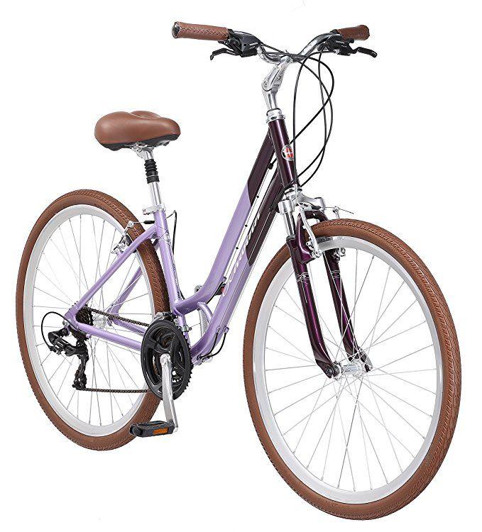 298 Prime Schwinn Capitol Women S Hybrid Bicycle Lavender 700c Wheel 16 Hybrid Bicycle Hybrid Bike Bicycle