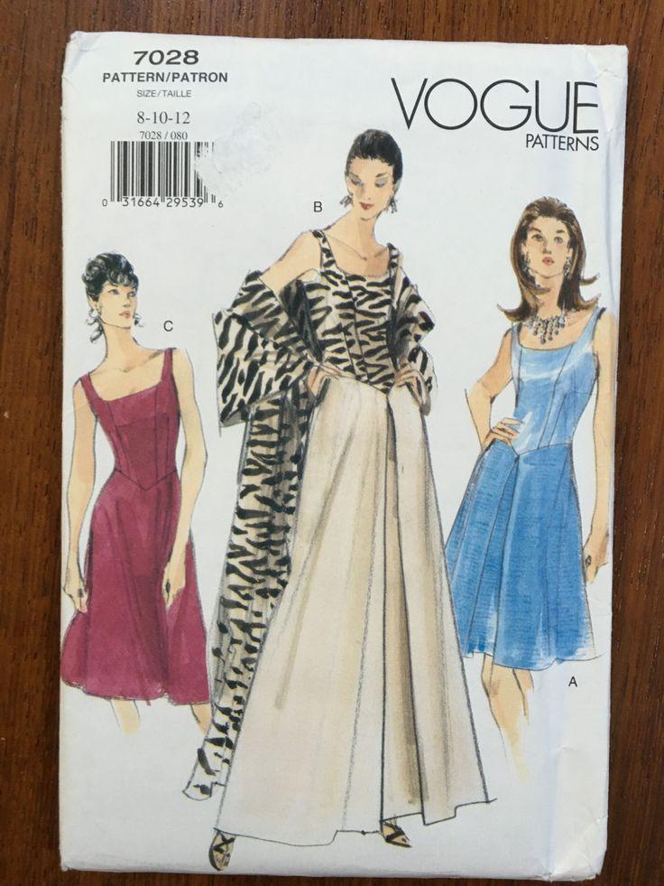Vogue Patterns 7028 Evening Gown Princess Costume Pattern Size 8 10 12 Cinderella Aurora Beautiful elegant timeless wedding bridesmaid dress by weseatree on Etsy