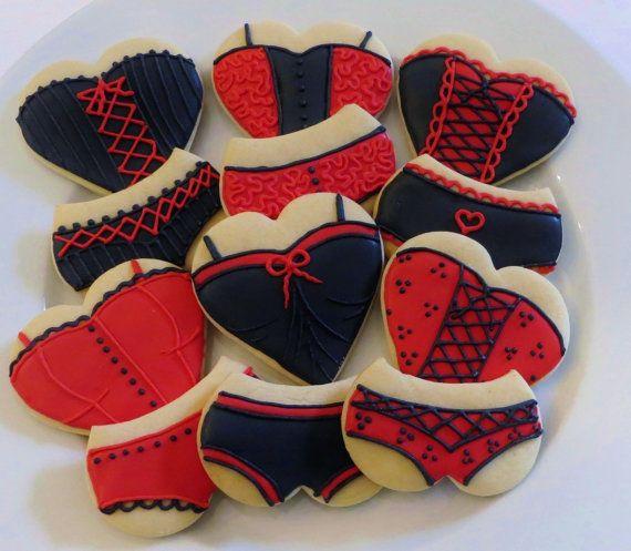 Decorated Lingerie/Corset Cookie favors for a Bachelorette party or Bridal shower , 1 Dozen