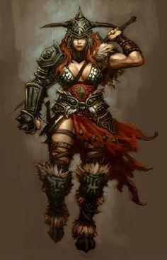 Mulher viking ruiva