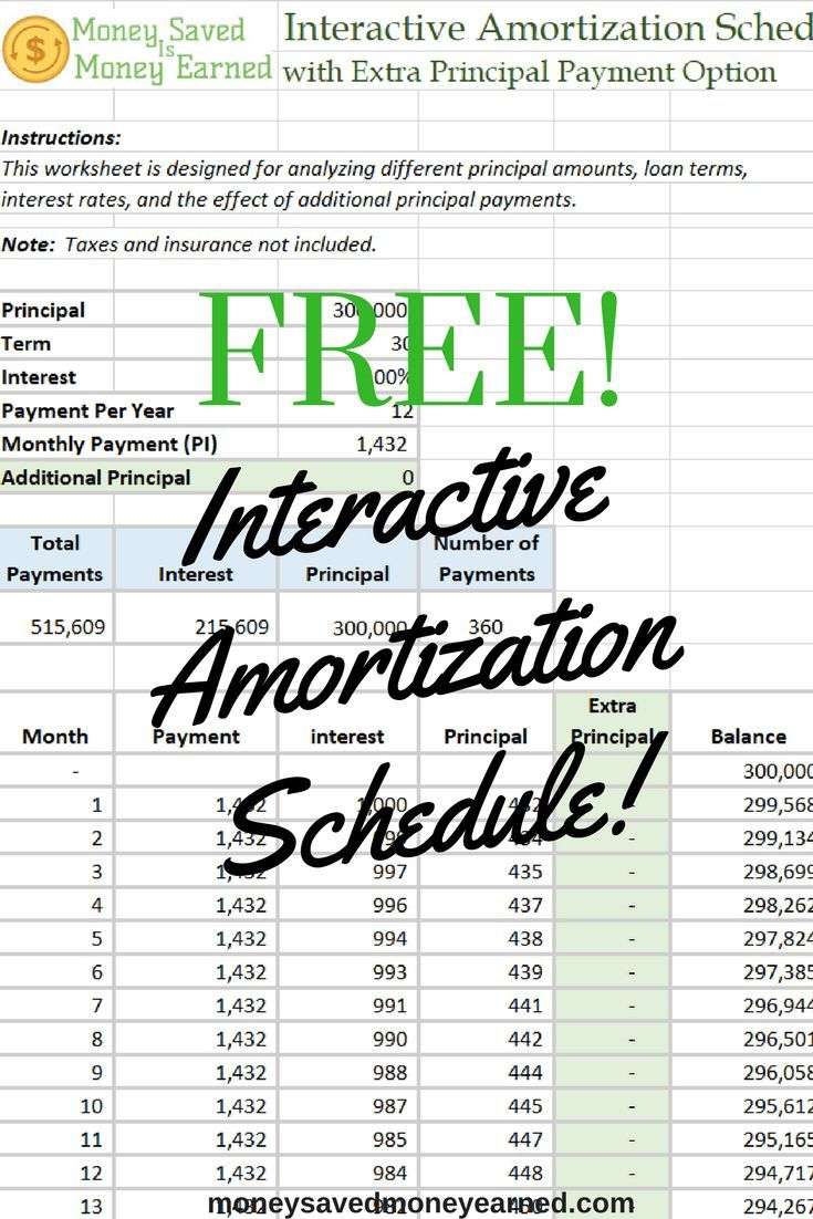 free interactive amortization schedule calculator plug your numbers