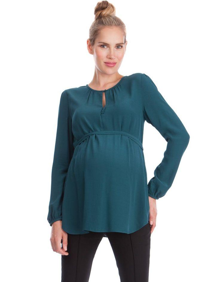 Emerald Keyhole Maternity Blouse | Seraphine