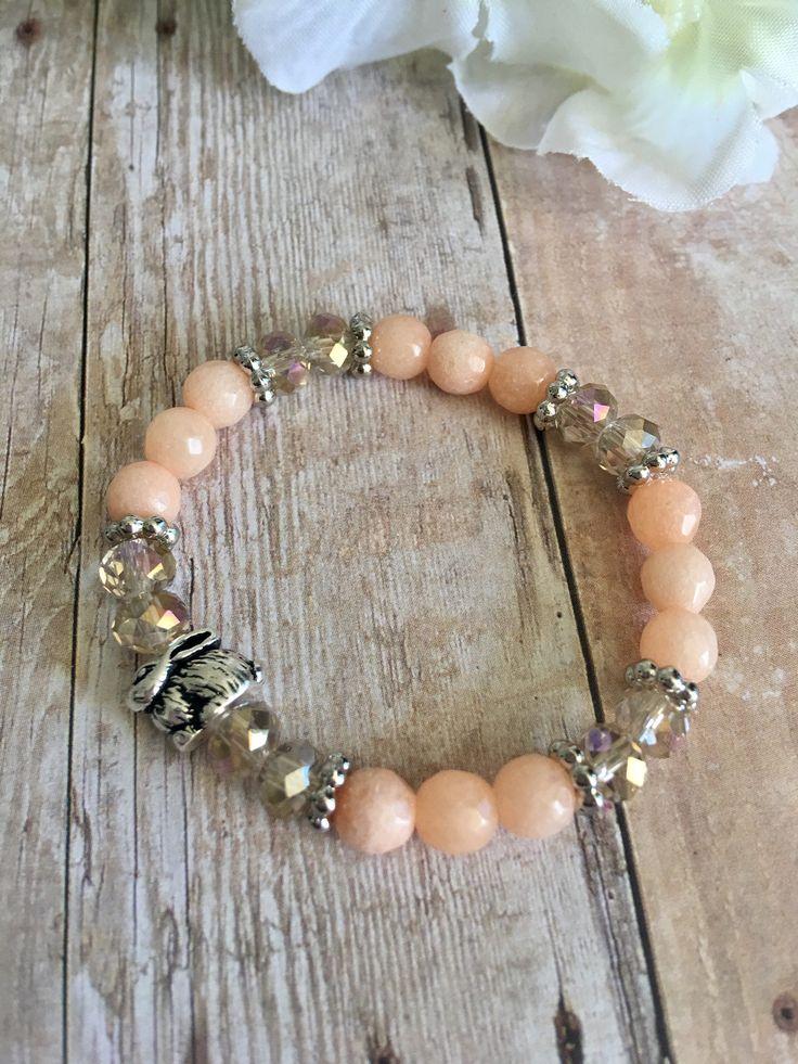 Bunny Peach Kid Bracelet by HolyBombshell on Etsy https://www.etsy.com/listing/524288509/bunny-peach-kid-bracelet