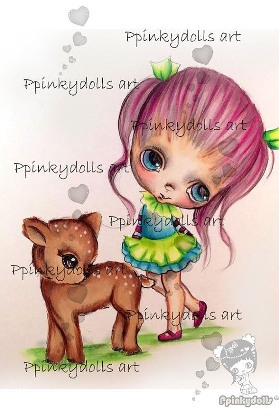 INSTANT DOWNLOAD Digital Digi Stamps..by by ppinkydollsart on Etsy