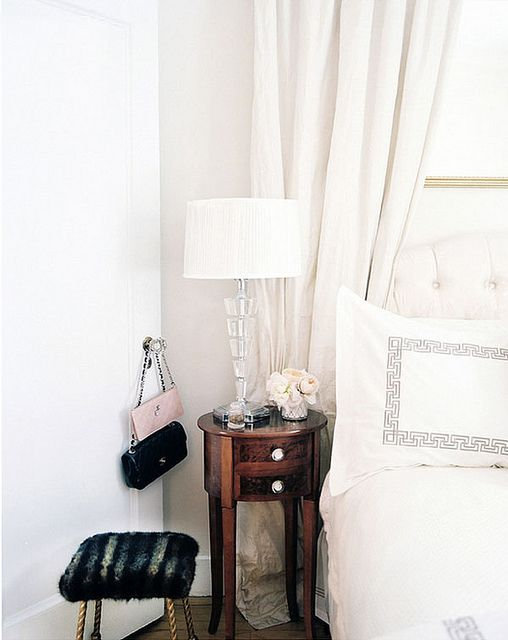 {décor inspiration : winter white bed linens & leopard print} by {this is glamorous}, via Flickr