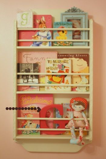 Great book storage but I would be worried Isabella may pull off wall trying to get books.  When shes older maybe.