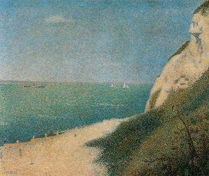 The Shore at Bas-Butin, Honfleur - (Georges Pierre Seurat)
