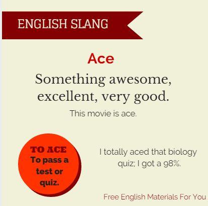 Ace #English #EnglishSlang #slang #ace