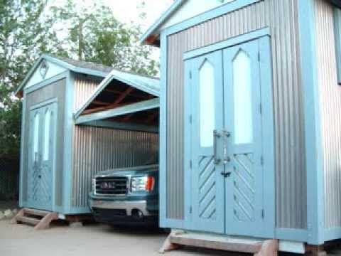 Built INSANE Twin Sheds *Retractable Roof Carport, complete build, storage & studio space - YouTube