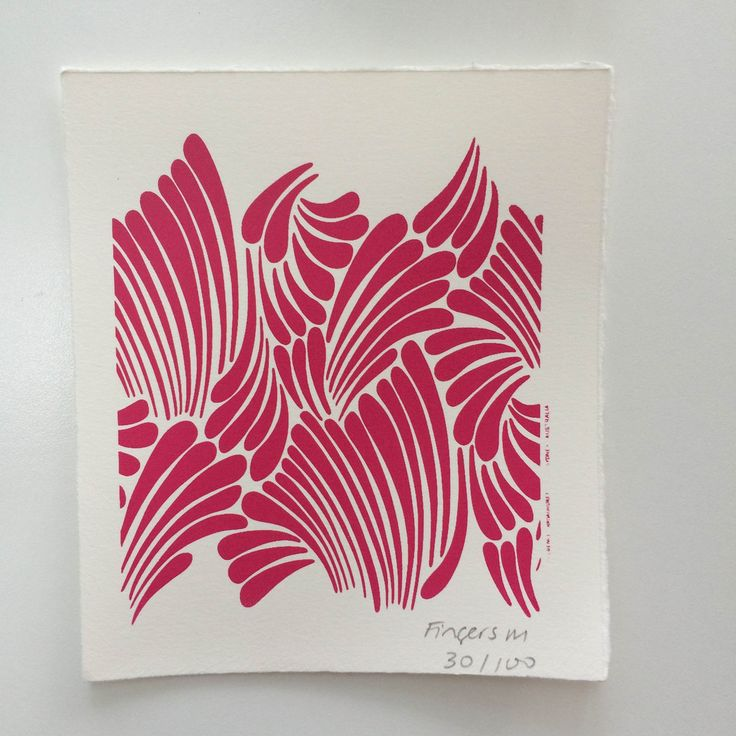 Florence Broadhurst limited edition screen print - Pink Fingers