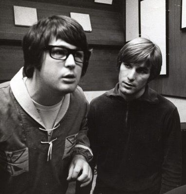 """With Dennis during the """"Pet Sounds"""" sessions"""