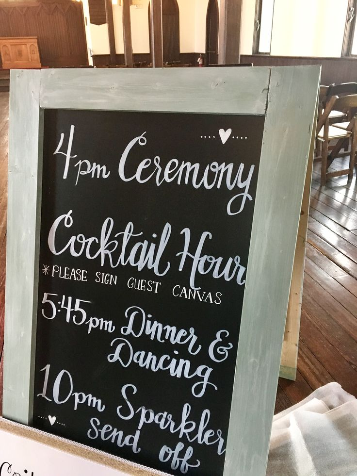 Wedding program sign by Danielle Duran