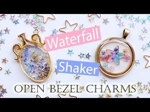 Kawaii Tutorial: Waterfall & Shaker Open Bezel Charms (2 Different Techniques) - YouTube