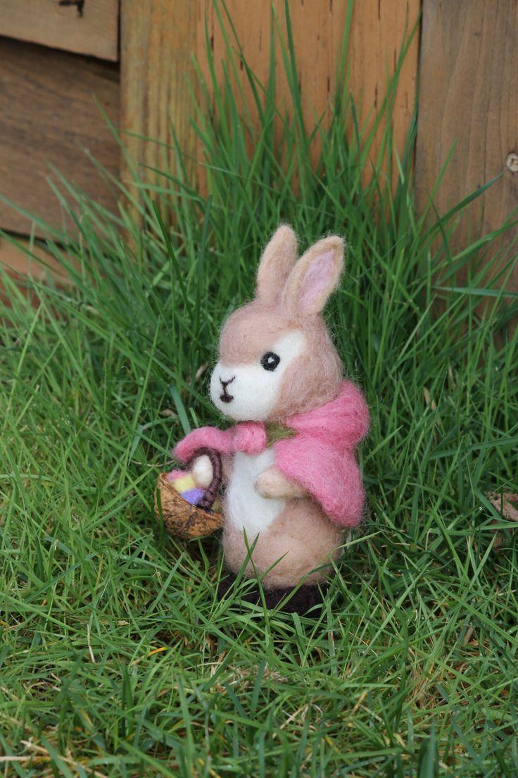Needle felted Easter rabbit Needle Felted Bunny