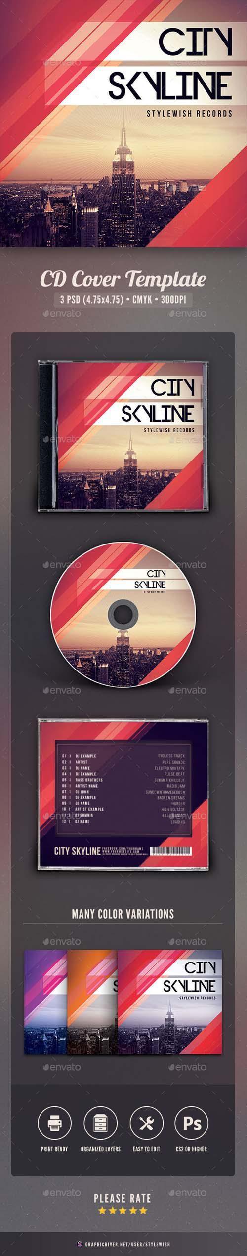 GraphicRiver - City Skyline CD Cover Artwork
