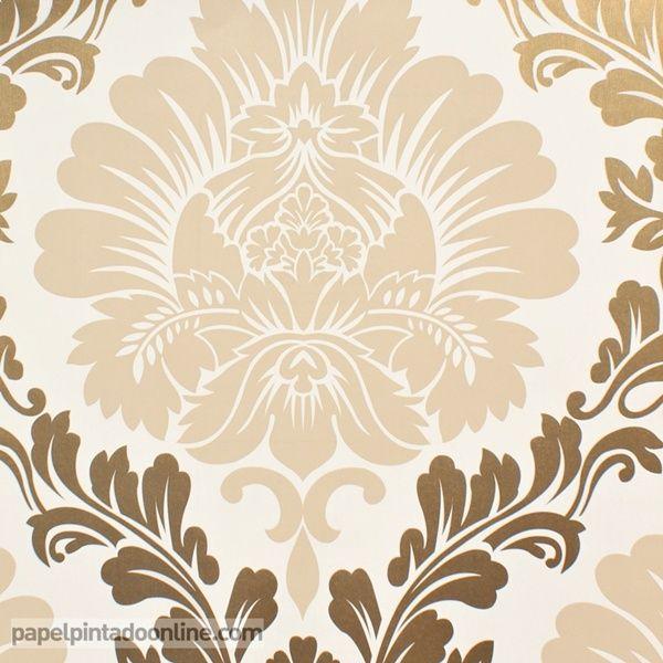 Las 25 mejores ideas sobre papel pintado damasco en - Papel pintado economico ...