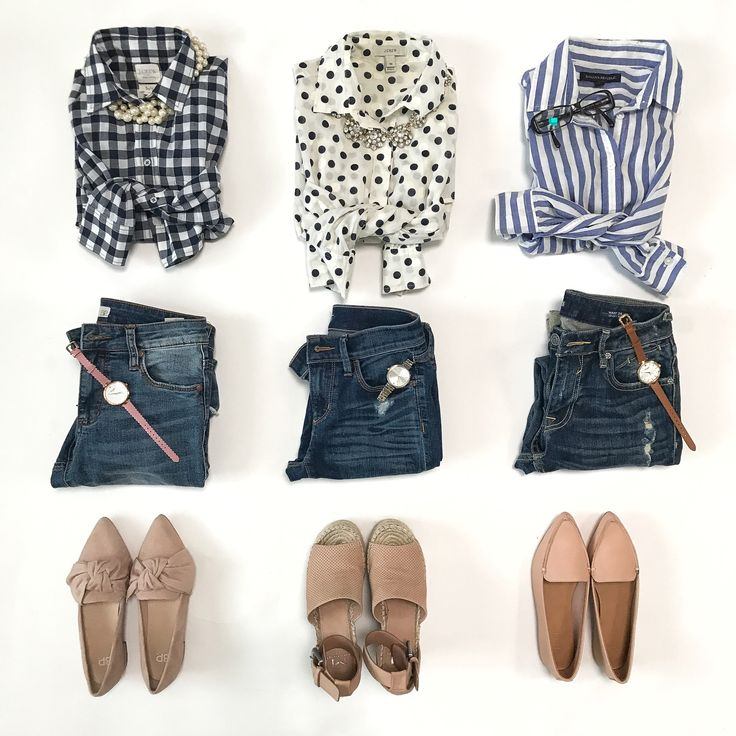 button up shirts casual denim neutral blush sandals loafers outfit ideas