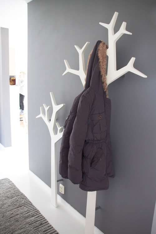 Wall tree coat racks.