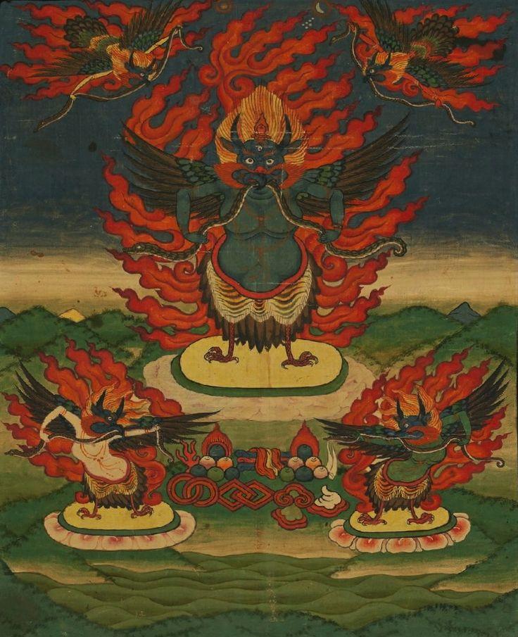 Khyung, Bon Deity. Tibet. 1800s.: