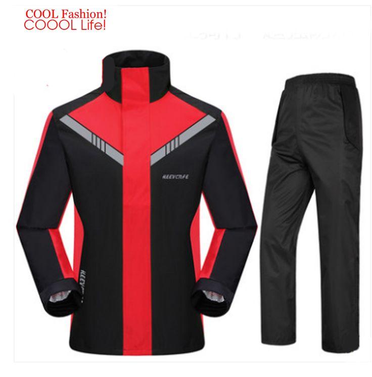 Fashion Super Waterproof Rain Suit Motorcycle Hooded Raincoat para moto impermeable motociclista Rain Coat motocicleta jaquetas #Affiliate