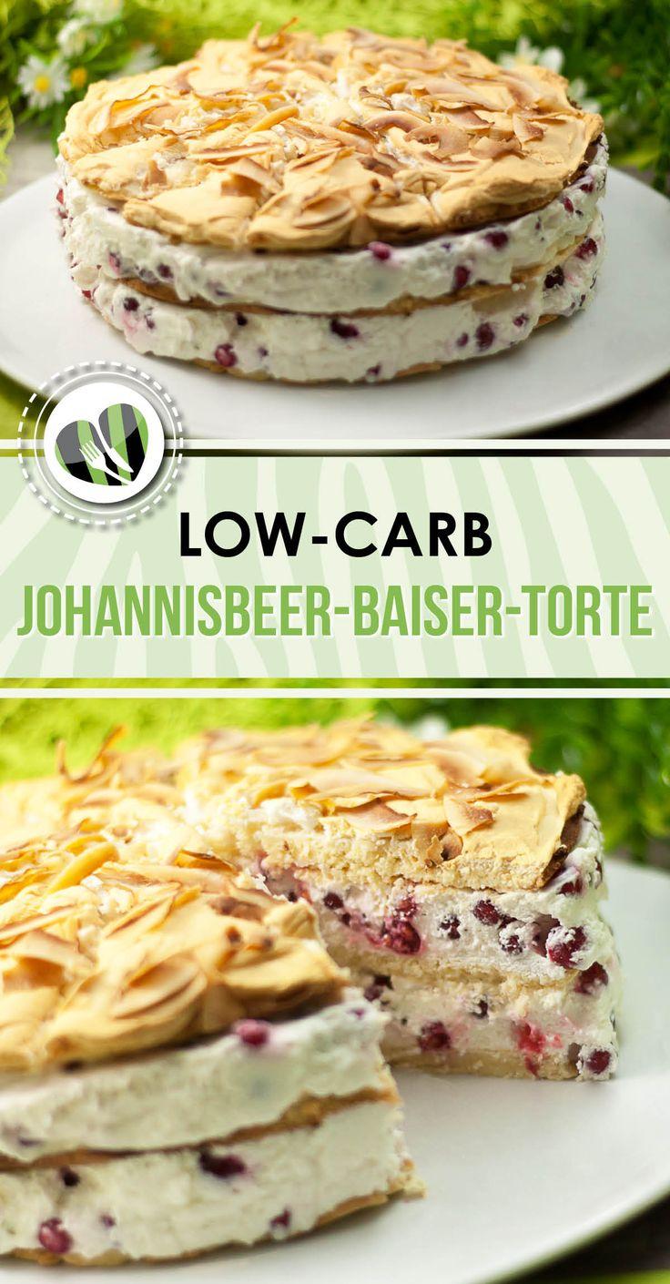 Die low-carb Johannisbeer-Baiser-Torte ist unheimlich lecker, sieht toll aus und ist zudem auch noch glutenfrei.