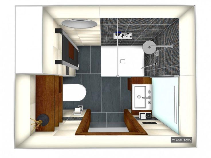 25+ parasta ideaa pinterestissä: badezimmer 8 qm planen | tiny, Badezimmer ideen