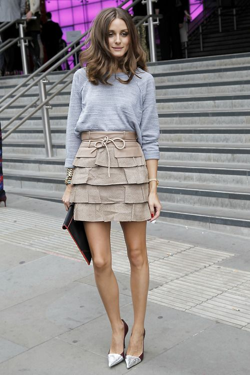 flarefashion:    Olivia Palermo at London Fashion Week / Photographer: Anthea Simms  Click here for more street style snaps from across the pond.