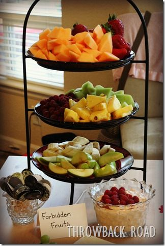 50 Shades Of Grey Bridal Shower Or Bachelorette Party Food Ideas Forbidden Fruits