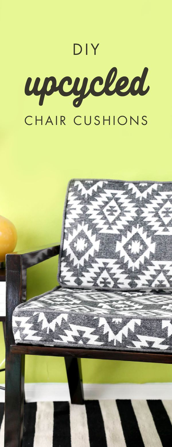 No One Will Believe How Easy It Was For Your To Make Your Very Own Upcycled  Chair Cushions, But Thanks To This Helpful Tutorial You Can Boost Your  Sewing ...