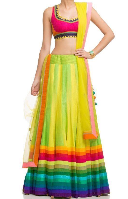 FatimaBi Plus size Fashion Gherdaar Lehanga Choli Muticolour Indian Shadi Dress #FatimaBi #LehegaCholi