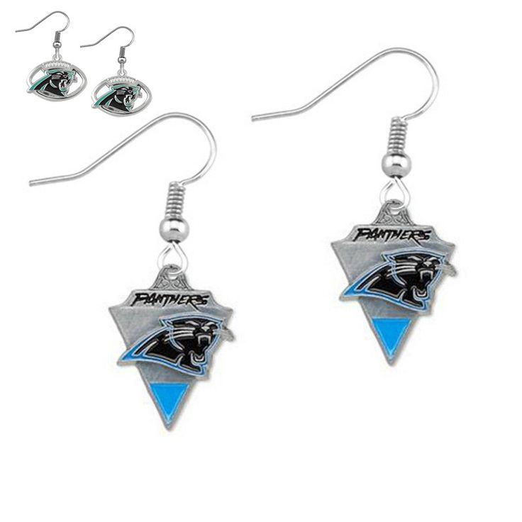 6Pairs/lot American Football Team Earrings NFL Carolina Panthers Team Logo Charm Pendants Drop Earrings Women Fans Earrings