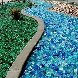Tumbled landscape glass...cool ideas
