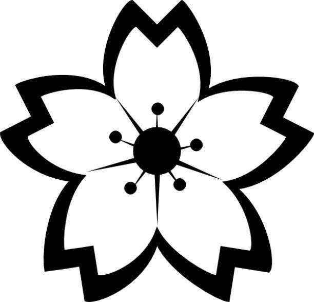 Nail Art Hitam Putih: Gambar Bunga Sakura Hitam Putih