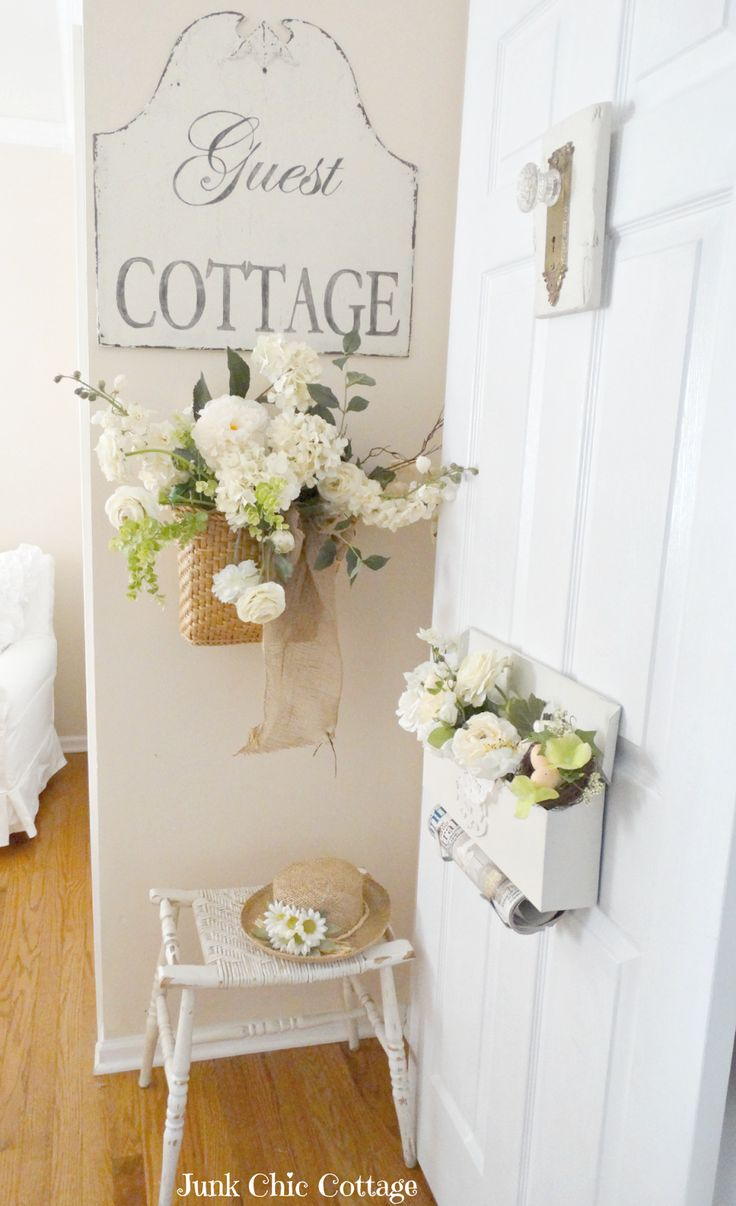 Junk Chic Cottage: Be Our Guest Entrance to guest bedroom