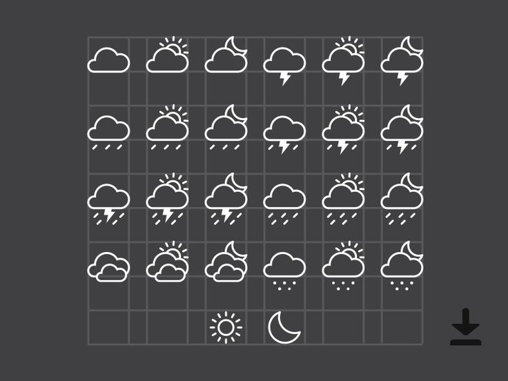 Weather Icons (Ai) by Alex Pour