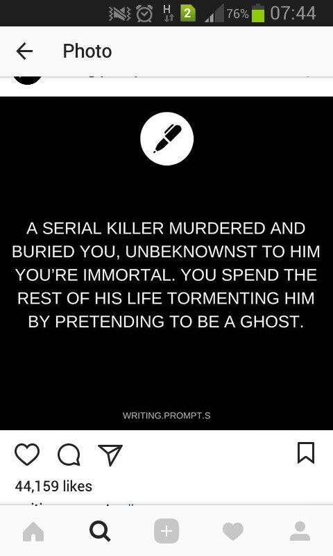I legit LOVE this idea :p **One of my fave ever writing prompts is to write myself as a ghost XD
