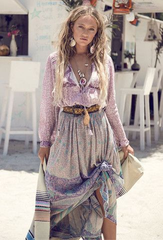 Xanadu Maxi Skirt - Opal
