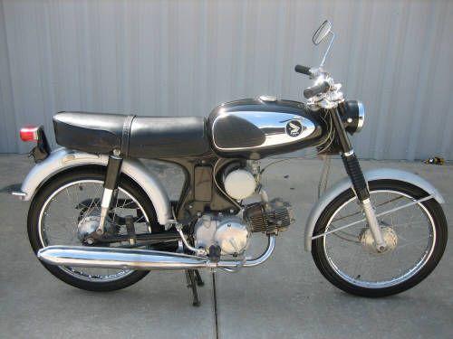 1967 HONDA S90 BLACK 6576