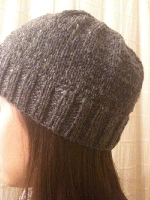 Knitting Pattern Hat Straight Needles Free : Knitted Hat (with two straight needles) Knitting ...