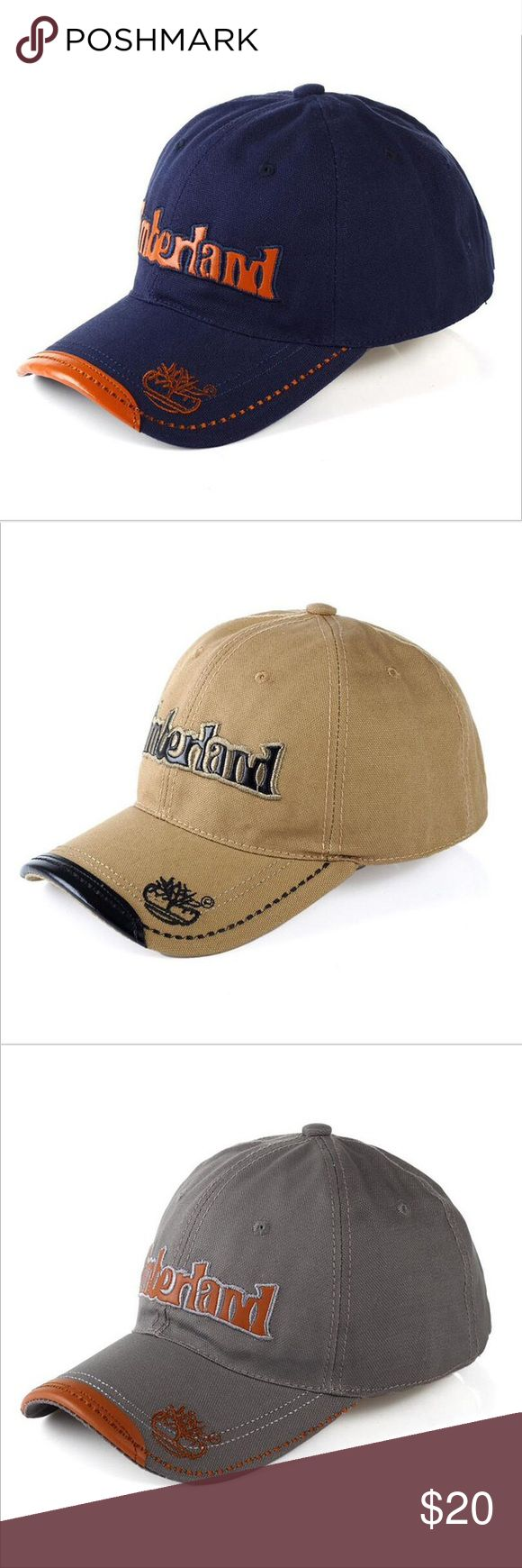 Timberland Baseball Hats Brand new Timberland baseball hats. Adjustable strap for sizing. Nice hats! Please message me the color you'd like: Blue,Gray,Black or Tan. Thank You Accessories Hats