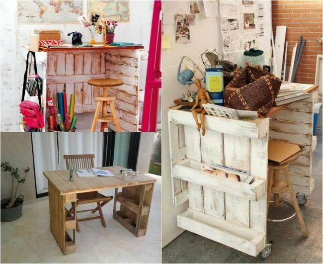 Schreibtisch Selber Bauen Paletten Ideen Kinderzimmer Heimbuero