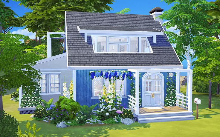blame the nargles — High Tides Beach House This build is CC-Free and… – Sims 4