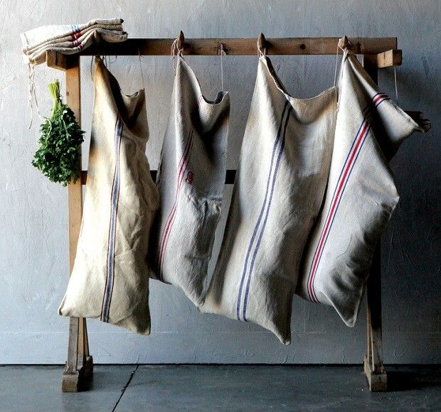 Grain Sacks | Vintage European Grain Sacks
