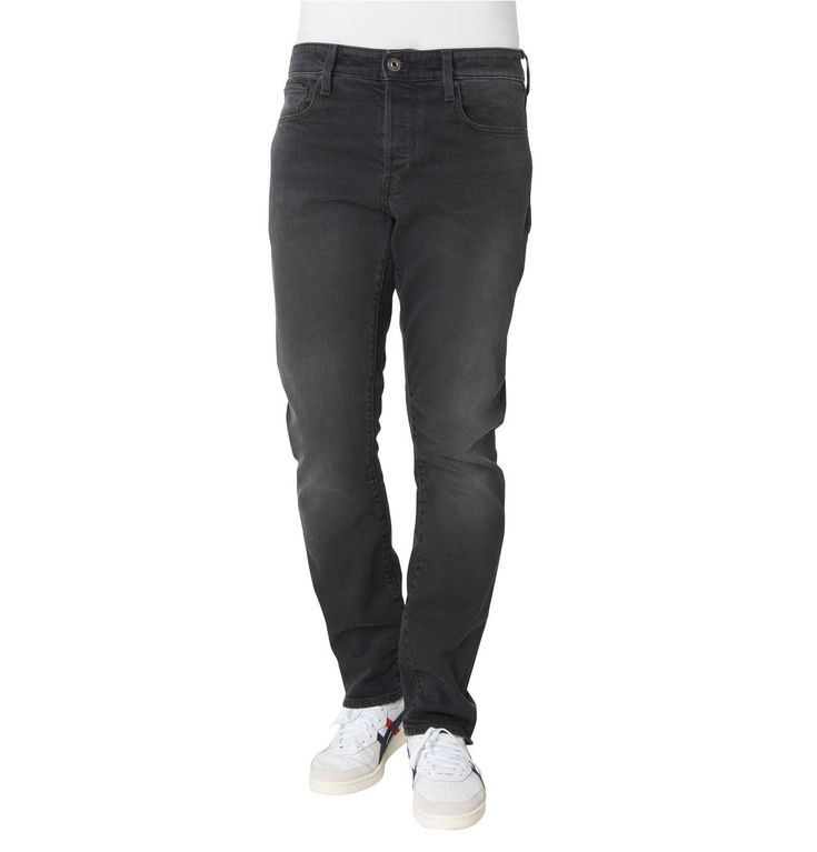 Jeans, Straight Fit, Tapered, dezente Waschung