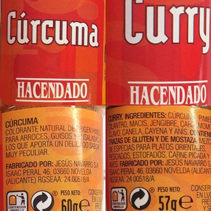 CÚRCUMA Y CURRY: La cúrcuma ya sabéis que es un mayor antiinflamatorio que incluso un ibuprofeno y paracetamol. Por lo cual sobran razones para incluirlo en nuestra dieta. En el caso del curry, la cúrcuma esta unida con pimienta negra y pimienta de cayena que aumenta la biodisponibilidad y absorción de la cúrcuma lo que hace que se digiera mejor. Y de la forma sola si le añadimos por separado pimienta negra o un yogur en la misma comida o aceite de oliva hacemos que se absorba también.