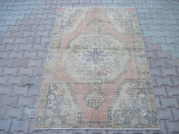 Turkish Rug 4.4x6.11 Feet 211x133 Cm Turkish Gray Rug Handmade Gray Rug Oushak Gray Rug Vintage Gray Rug Turkish Carpet Rug Gray Carpet Rug by Ebrarshops on Etsy