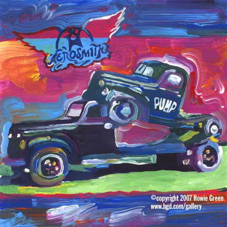Aerosmith Pump Pop Art Album Cover Painting by Howie Green ...